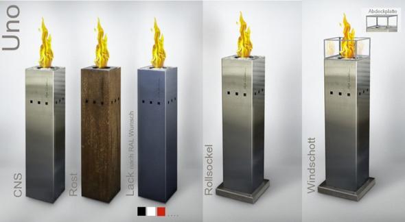 fuego swiss design gasfackel z rich design feuerobjekte. Black Bedroom Furniture Sets. Home Design Ideas